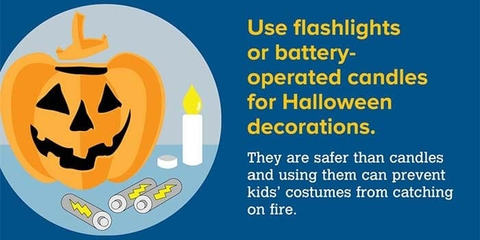 Halloween fire safety social share image