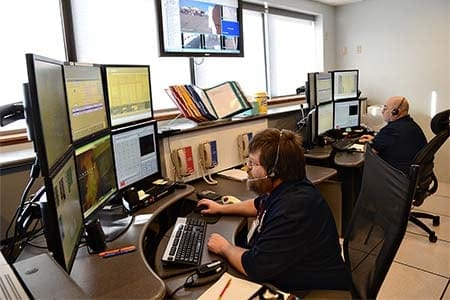 photo of 911 dispatchers working