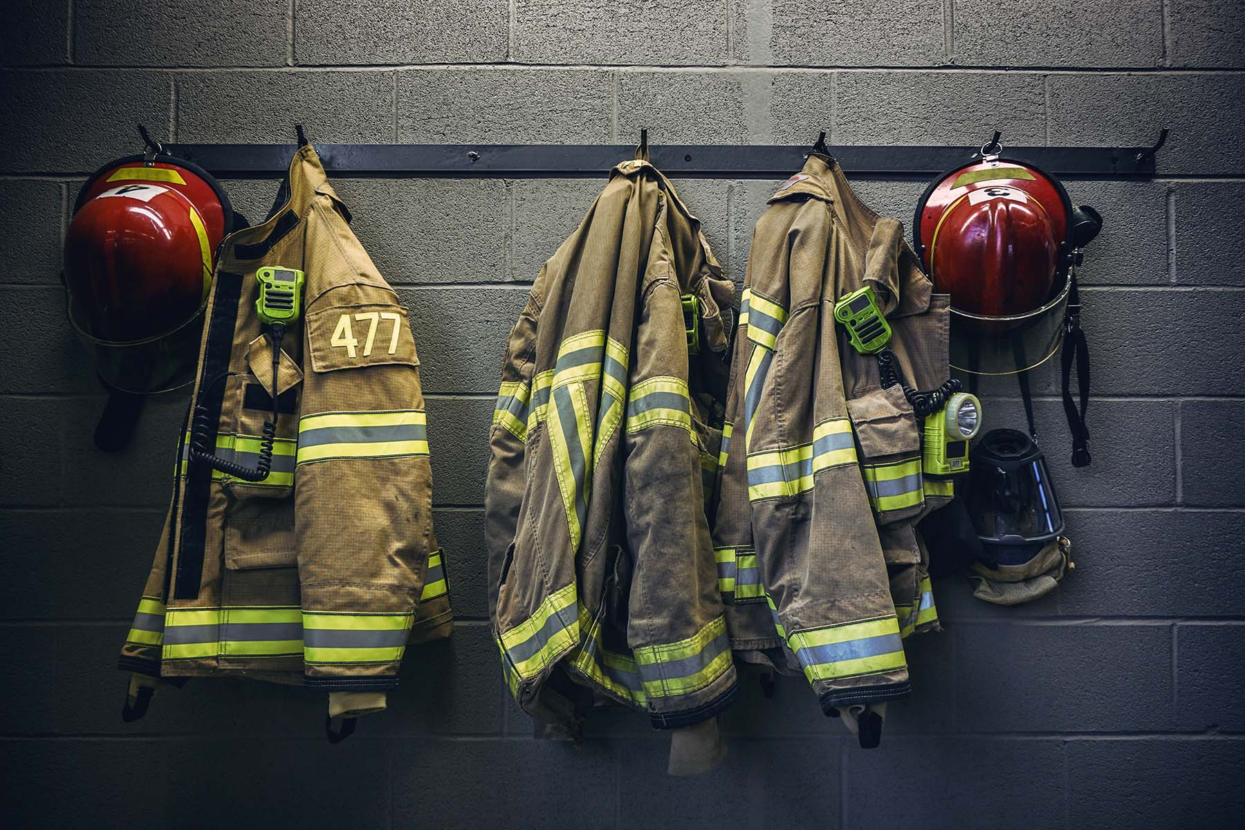 firefighter bunker gear and PPE