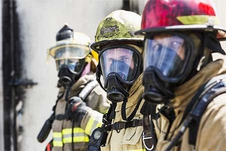 firefighters wearing SCBA