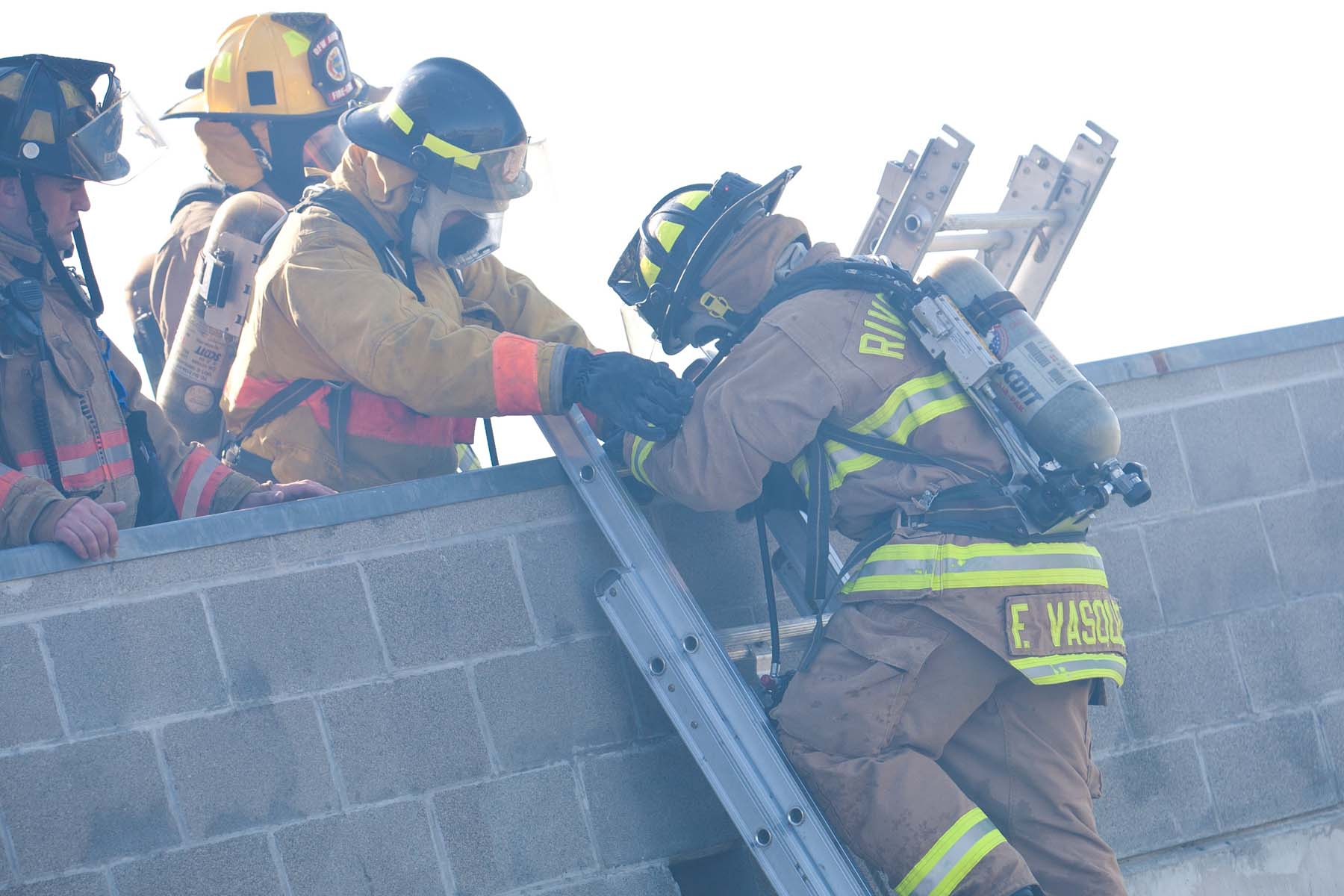firefighter ladder training