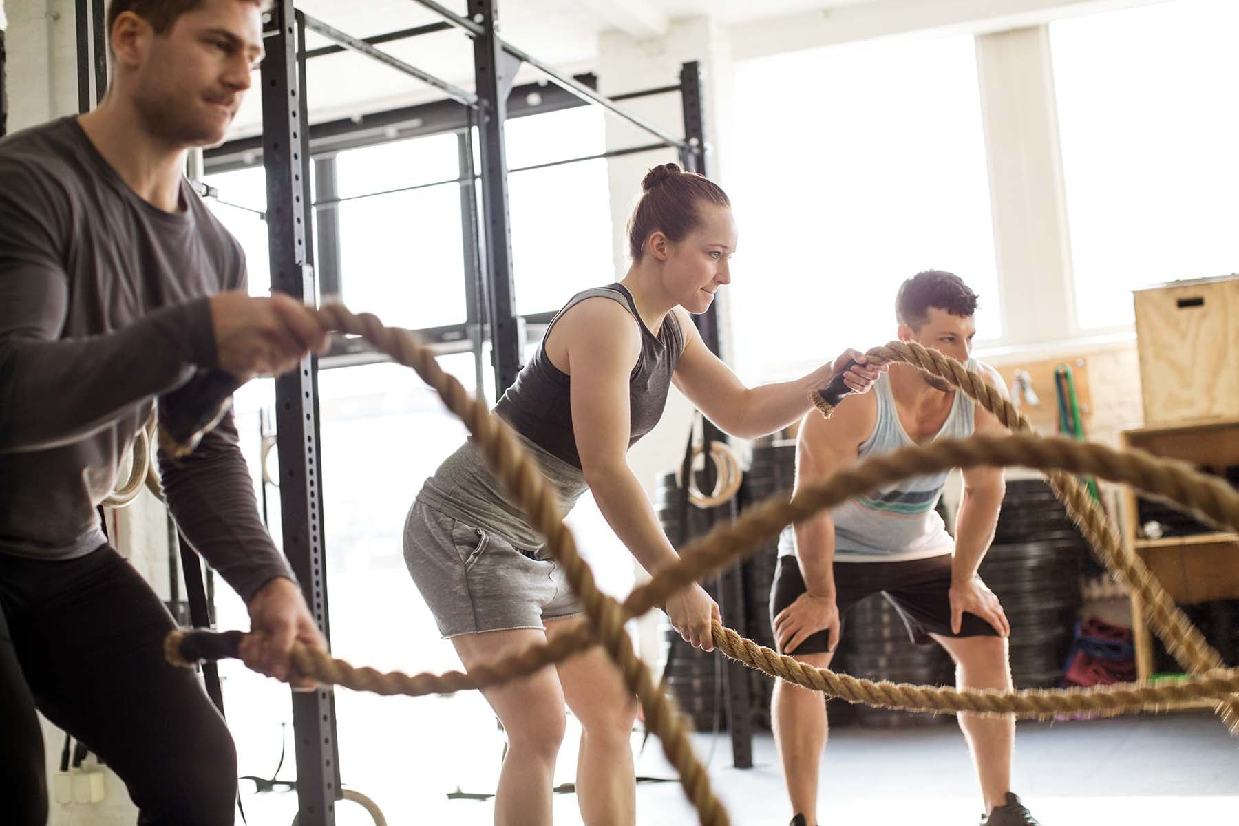 fitness training with ropes