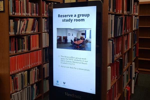 library's digital sign