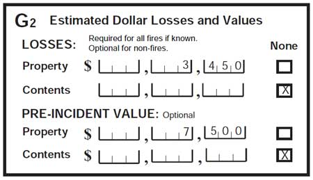 nfirs dollar loss field