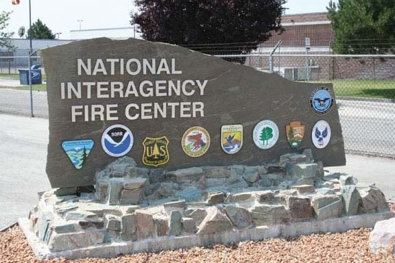 National Interagency Fire Center sign