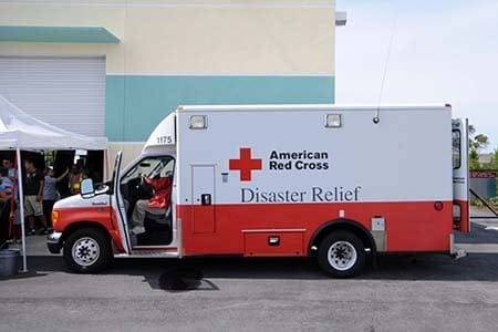 American Red Cross van