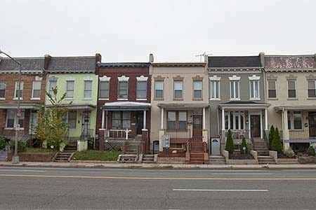 photo of several row houses