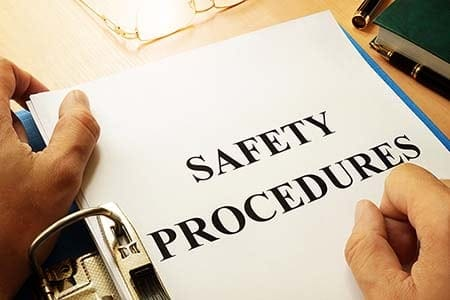 binder of safety procedures
