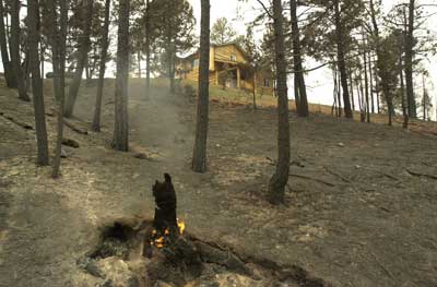 a photo of home that survived a wildfire