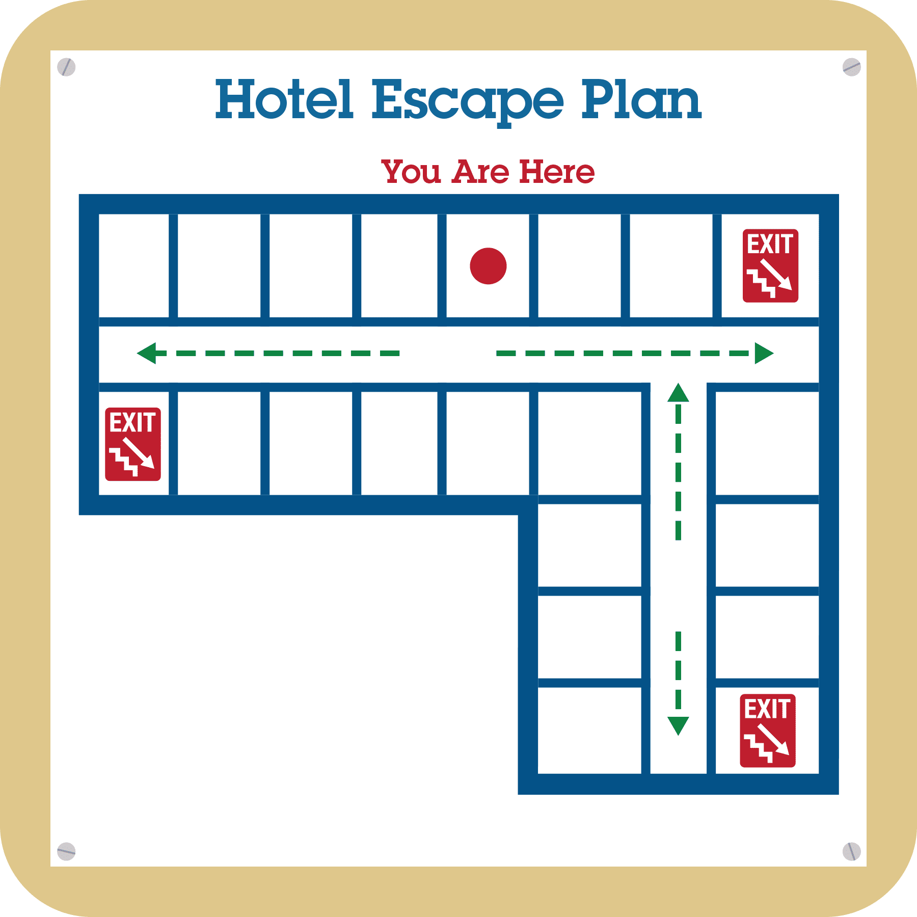 hotel escape plan