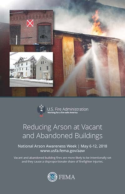 2018 Arson Awareness Week poster