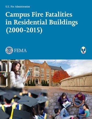 campus fire fatalities report cover