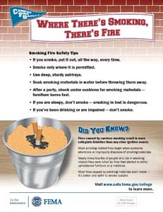 campus fire safety flyers