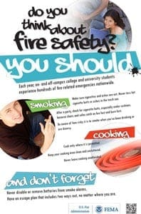 campus fire safety poster