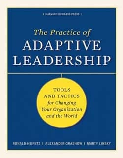 Book cover: The Practice of Adaptive Leadership