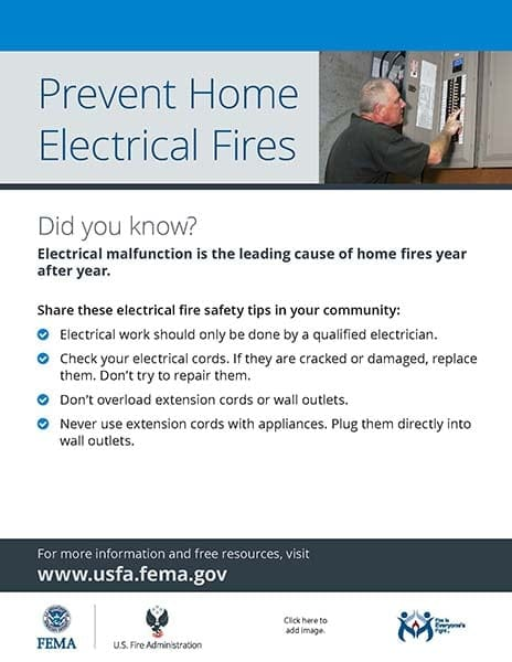 electrical fire safety handout