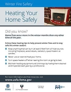 heating your home safely flyer