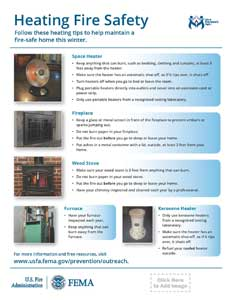 heating fire safety handout - vertical version