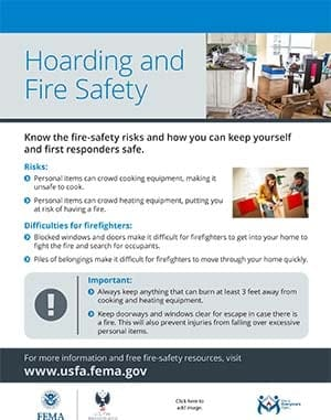 hoarding and fire safety flyer