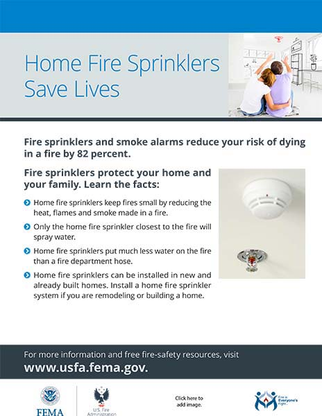 home fire sprinkler flyer