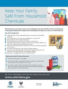 household chemical safety handout