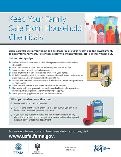 Keep Your Family Safe from Household Chemicals handout