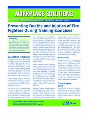 Preventing Deaths and Injuries of Firefighters During Training Exercises