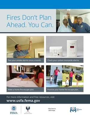 Fires Don't Plan Ahead. You Can. flyer