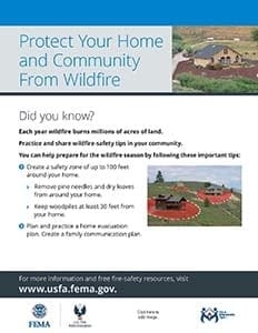 protect your home and community from wildfire