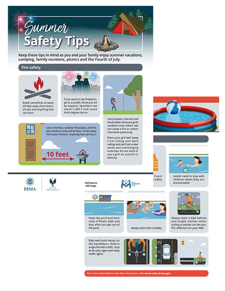summer safety handout