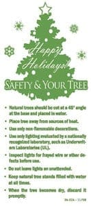 Christmas Tree Fire Safety Hang Tag Side 1