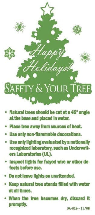 Holiday Candle And Christmas Tree Fire Safety Outreach Materials - Location Of Christmas Trees