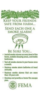 Christmas Tree Fire Safety Hang Tag Side 2