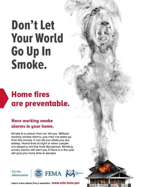 up in smoke smoke alarm flyer