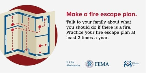 Make a fire escape plan.