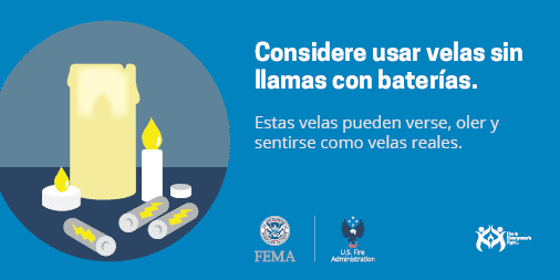 use flameless candles Spanish