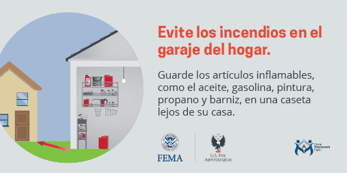 garage fire safety spanish