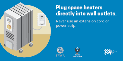 plug heaters into outlets