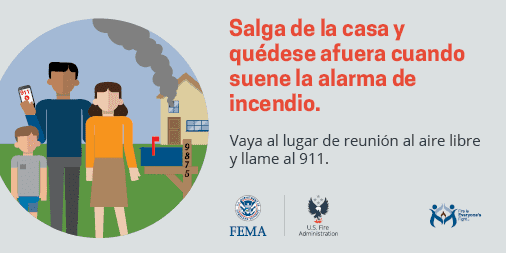 get out and stay out when your smoke alarm sounds - Spanish